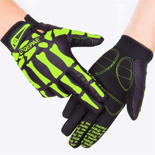 Skull Full Finger Cycling Gloves Men Breathable Outdoor Sport MTB Gloves Bicycle Bike Gloves S/M/L/XL/XXL spakct cycling gloves men s gloves winter full finger mtb bike bicycle guantes ciclismo windproof outdoor sport gloves sharp new