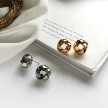 Модные украшения серьги гвоздики простой дизайн геометрические