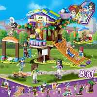 Tree House Building Blocks Compatible with LegoINGlys Friends for Girls Series Friendship Set Toy for Children Gift