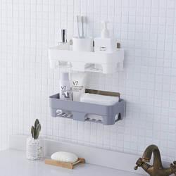 Креативная присоска многофункциональная полка Ванная комната seamless наклейки пластиковая дыропробивная корзина для хранения с полками