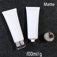 Free Shipping 100ml Matte Plastic Bottle White Frost Cosmetic Squeeze Soft Tube Facial Cream Lotion Package Empty 30pcs