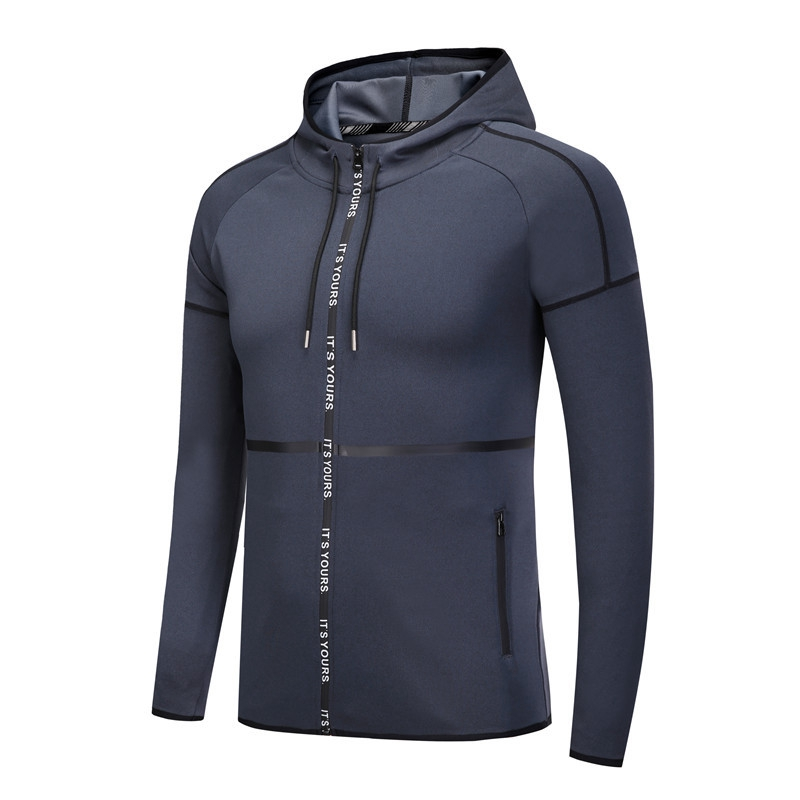 Fall Winter Men Sports Running Jacket Leisure Zipper Fitness Breathable Hoodies Jacket Bicycle Jersey Windbreaker Sportwear