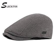 Sleckton модные шапки для мужчин повседневные Шапки newsboy