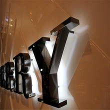 Led Letter Signs Custom-Made Commercial-Signs Backlit Metal Illuminated Stainless-Steel