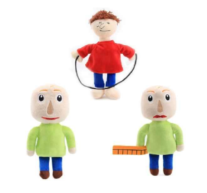 3 stks/set 20-25cm Baldi's Basics in Onderwijs en Leren speeltijd Pluche doll Figuur Baldi Speelgoed Voor kinderen Verjaardag Christmas Gift