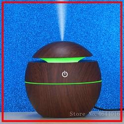 Dyfuzor olejków eterycznych z drewna USB 130ml ultradźwiękowy nawilżacz domowy rozpylacz zapachów mgła aromaterapeutyczna Maker z LED w Nawilżacze powietrza od AGD na