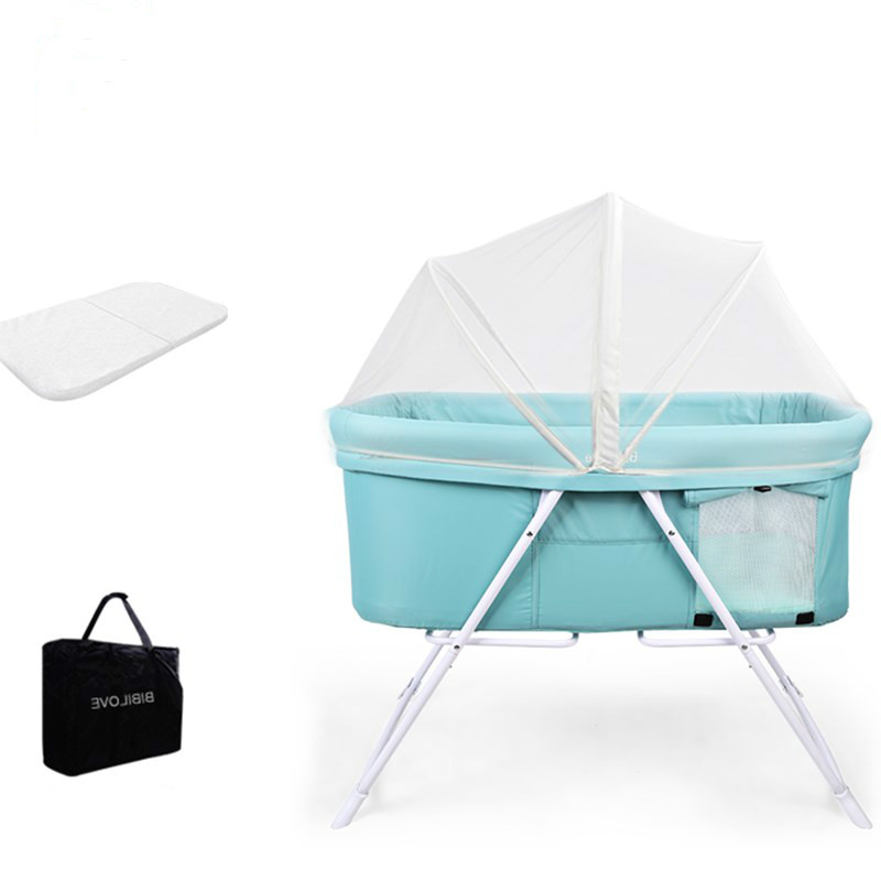 Baby Bed Portable Multifunctional Neonatal Cradle Foldable Baby Bb Bedside Stitching Cradle Bed