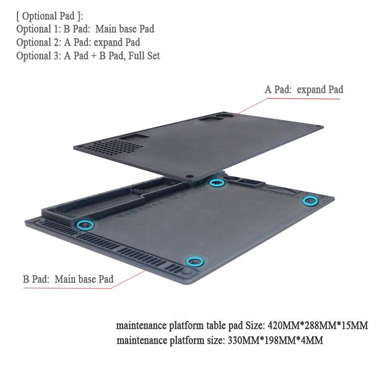 PHONEFIX Heat Insulation Silicone Pad Phone Maintenance Platform PCB BGA Desoldering Mat With Storing Repair Tools Design