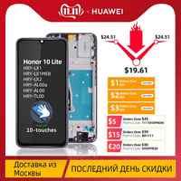 Écran LCD Pour Huawei Honor 10 Lite Ecran Complet Vitre Tactile + Frame Châssis Original Noir Bleu Kit Outils HRY-LX1