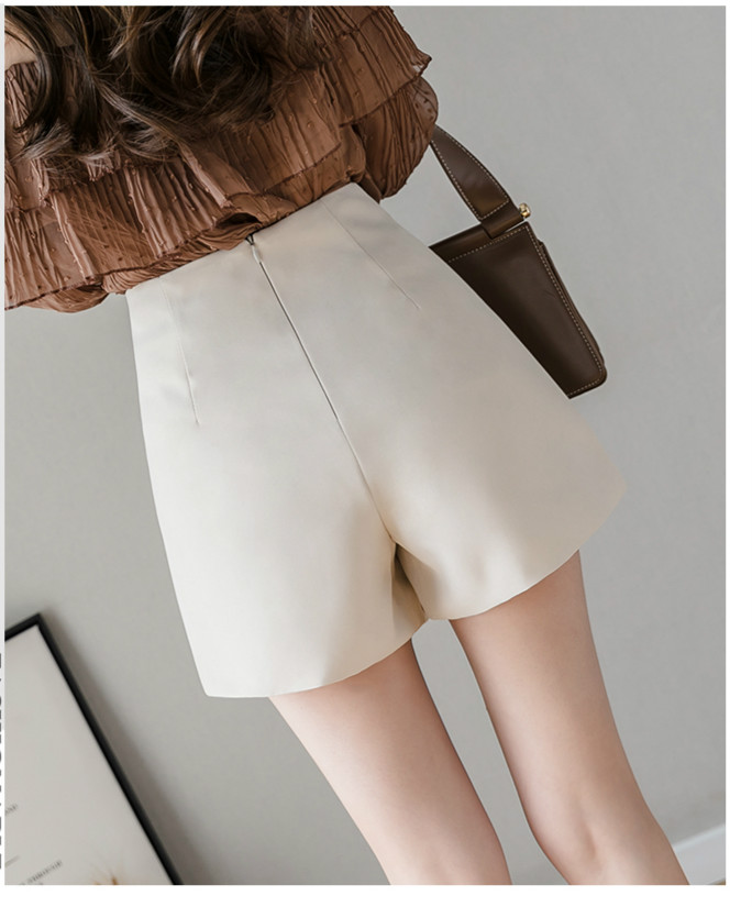Black Apricot High Waist Irregular Zipper Shorts 7