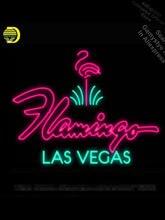Señal de neón de flamenco para Hotel Las Vegas, bombillas de neón para coche, letreros de neón Vintage, señales de negocios, ventanas de vidrio Real, señal de pared de garaje