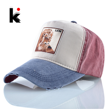 Summer Baseball Cap Men Women Fashion Animals Embroidery Snapback Dad Hat Spring Cotton Washed Denim Hip Hop Bone Dropshipping 1