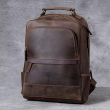 Вместительный рюкзак из натуральной кожи для мужчин и женщин