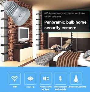 Image 5 - Mini Kamera WiFi Panorama Glühbirne Fisheye 360 Grad 960P Nachtsicht Hause Überwachung Motion Erkennung Video Micro Cam