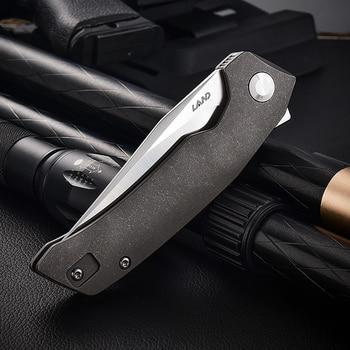 LAND 140 Needle Bearing Pocket Folding Knife VG10 Blade TC4 Handle Outdoor Camping  Survival Hunting Tactical EDC Tool Knives 3