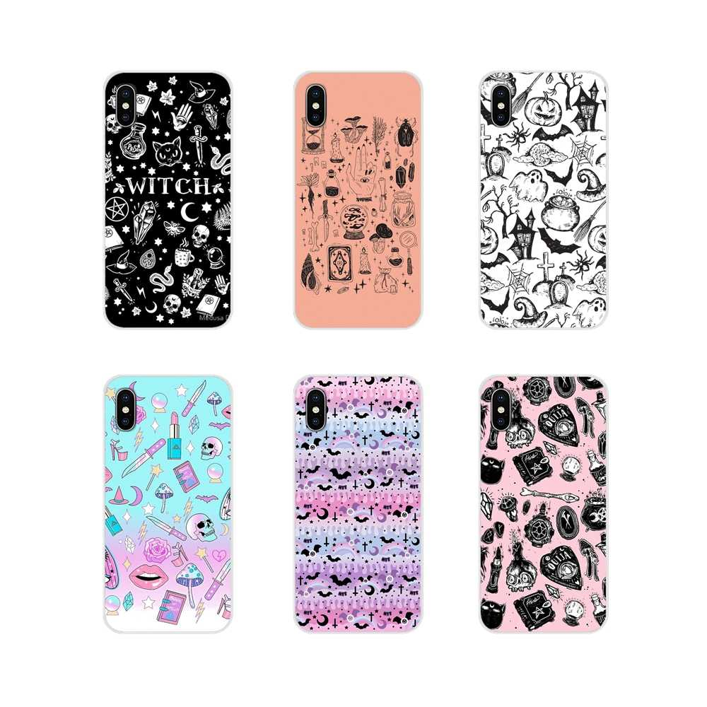 Silicone Skin Cover Girly Pastel Witch Goth Special For Huawei G7 G8 P8 P9 P10 P20 P30 Lite Mini Pro P Smart Plus 2017 2018 2019