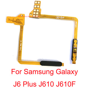 5 шт. сенсорный датчик отпечатков пальцев Выключатель питания Кнопка включения выключения Главная Кнопка меню гибкий кабель для Samsung J6 Plus J6 +...