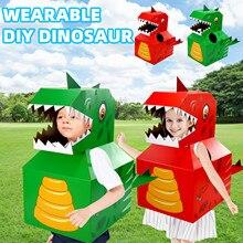 Children's Wearable Cardboard Tile Leng Paper Dinosaur DIY Animal Clothes Carton