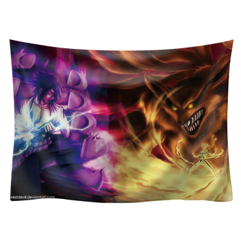 Japan Anime Boho decor Naruto wall hanging hippie boho  tapestry picnic mat beach towel mandala tapestry 200*150cm wall art 20