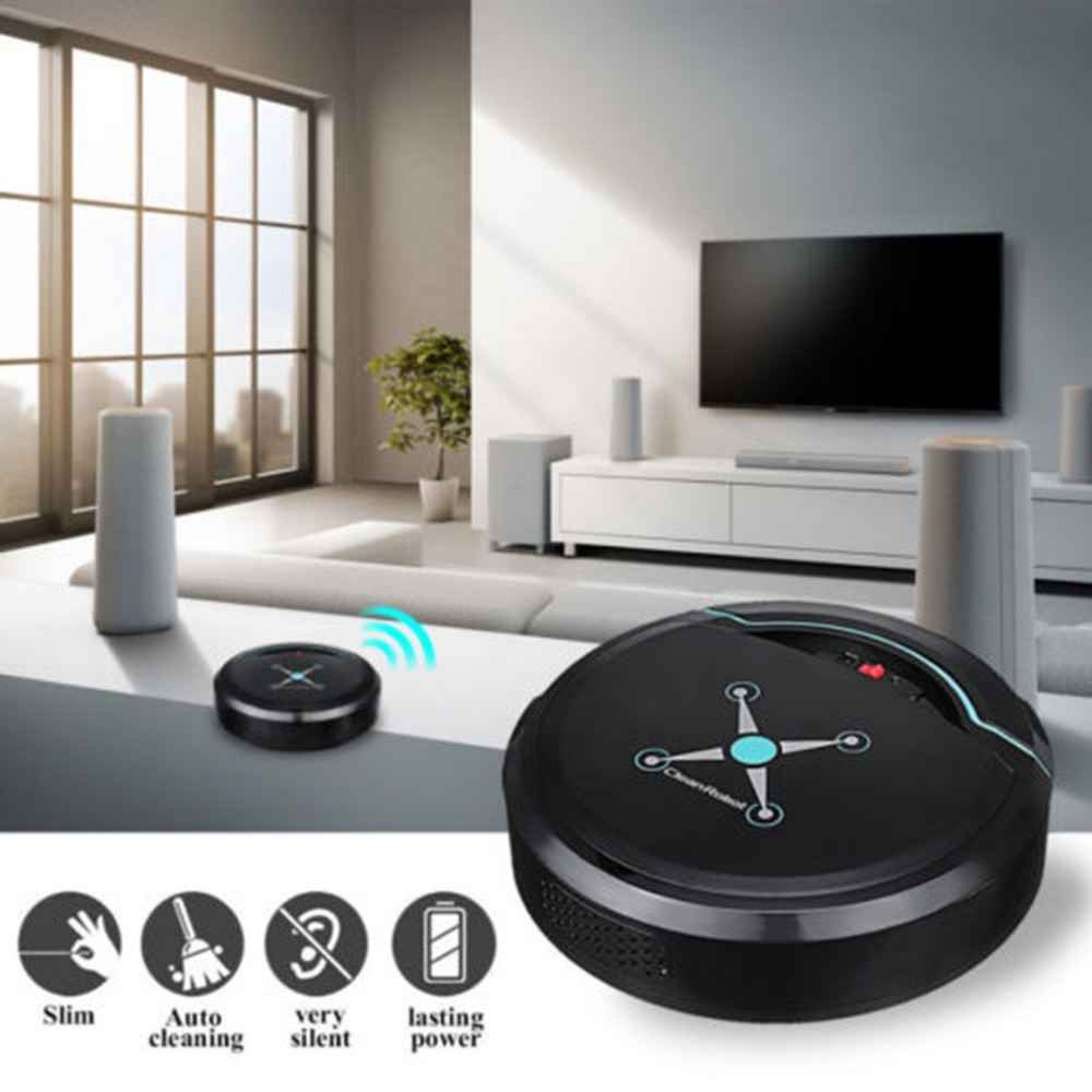 Hc0735bfd4475495d98c807da412c0888G Automatic Smart Robot Vacuum Cleaner Small Vacuum Cleaners Sweeping Robot Floor Dirt Auto Home USB Rechargeable Cleaning Machine