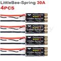 4 шт. LittleBee-Spring 30A ESC любимый BLHeli-S 2-6S LIPO ESC поддержка Dshot Oneshot125 Oneshot42 Multshot для мультикоптера RC PFV