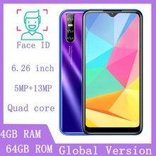Orijinal 8T Pro cep telefonları 6.26 ''su damlası 4GRAM 64GROM 13mp dört çekirdekli akıllı telefonlar yüz kimliği unlocked Android ucuz Celulares