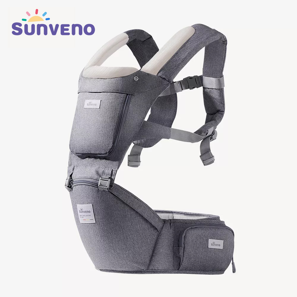 Sunveno Baby Carrier Infant Hip Seat Carrier Bebe Kangaroo Sling for Newborns Backpack Carrier Baby Travel Activity Gear
