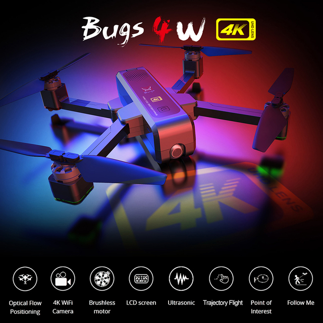 MJX Bugs 4W B4W Bürstenlosen RC Drohne mit Kamera 4K 5G WIFI FPV GPS Ultraschall Optischen Fluss positionierung Drone Faltbare Quadcopter