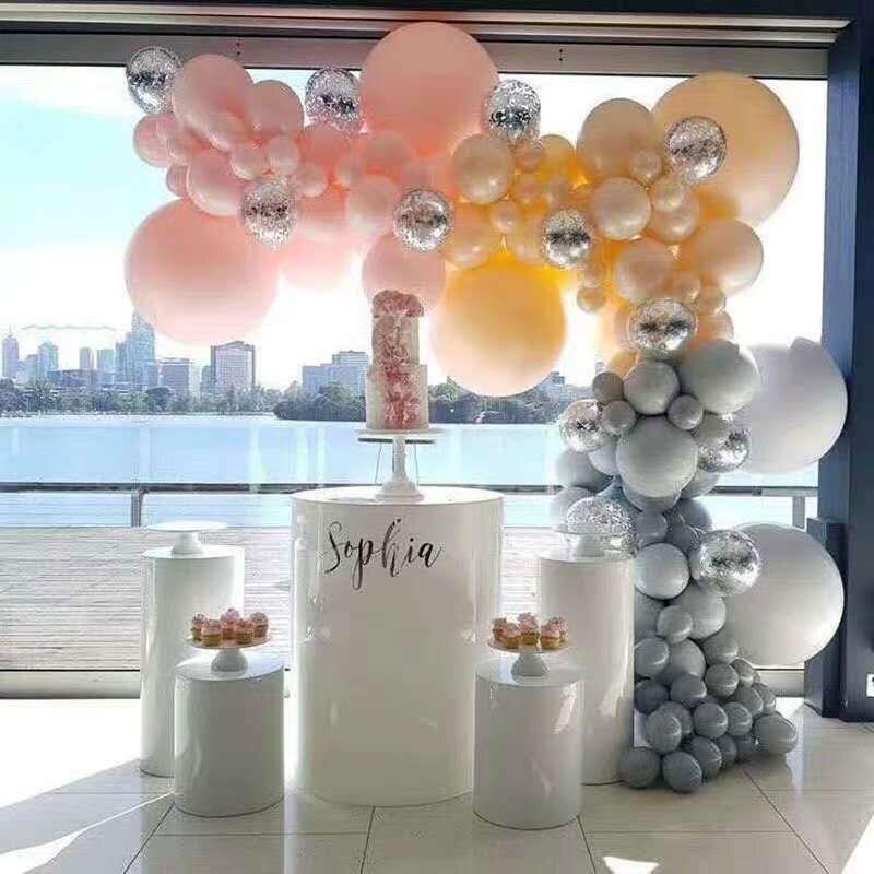5 Pcs Round Cylinder Plinth Wedding Props Cylindrical Dessert Table Wedding Cylindrical Dessert Table Party Decorations
