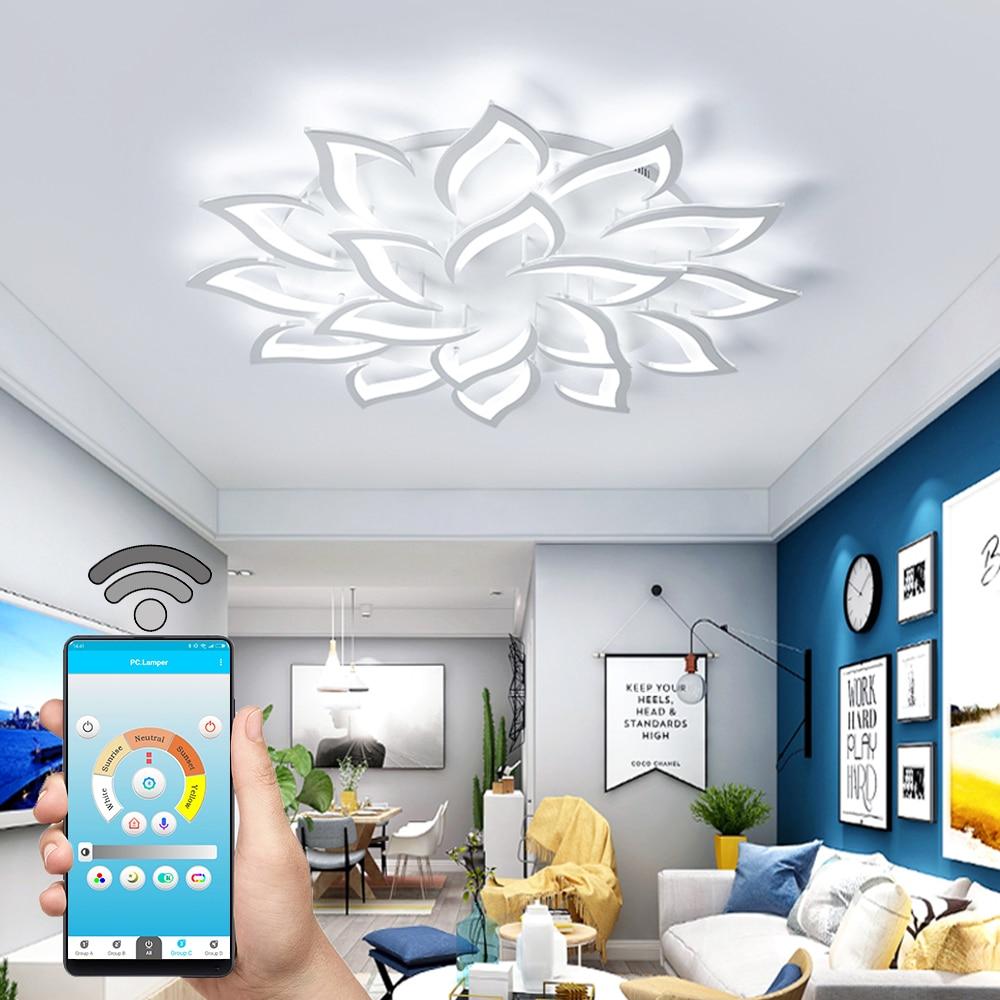 Lampe Plafond Salon Design €65.96 22% de réduction nouveau led lustre pour salon chambre maison lustre  par sala moderne décor led plafond lustre lampe éclairage