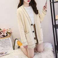 Fashion 2019 Autumn Winter Korean Loose Size Knitting Cardigans Open Stitch Sexy Batwing Sleeve Sweaters Coat