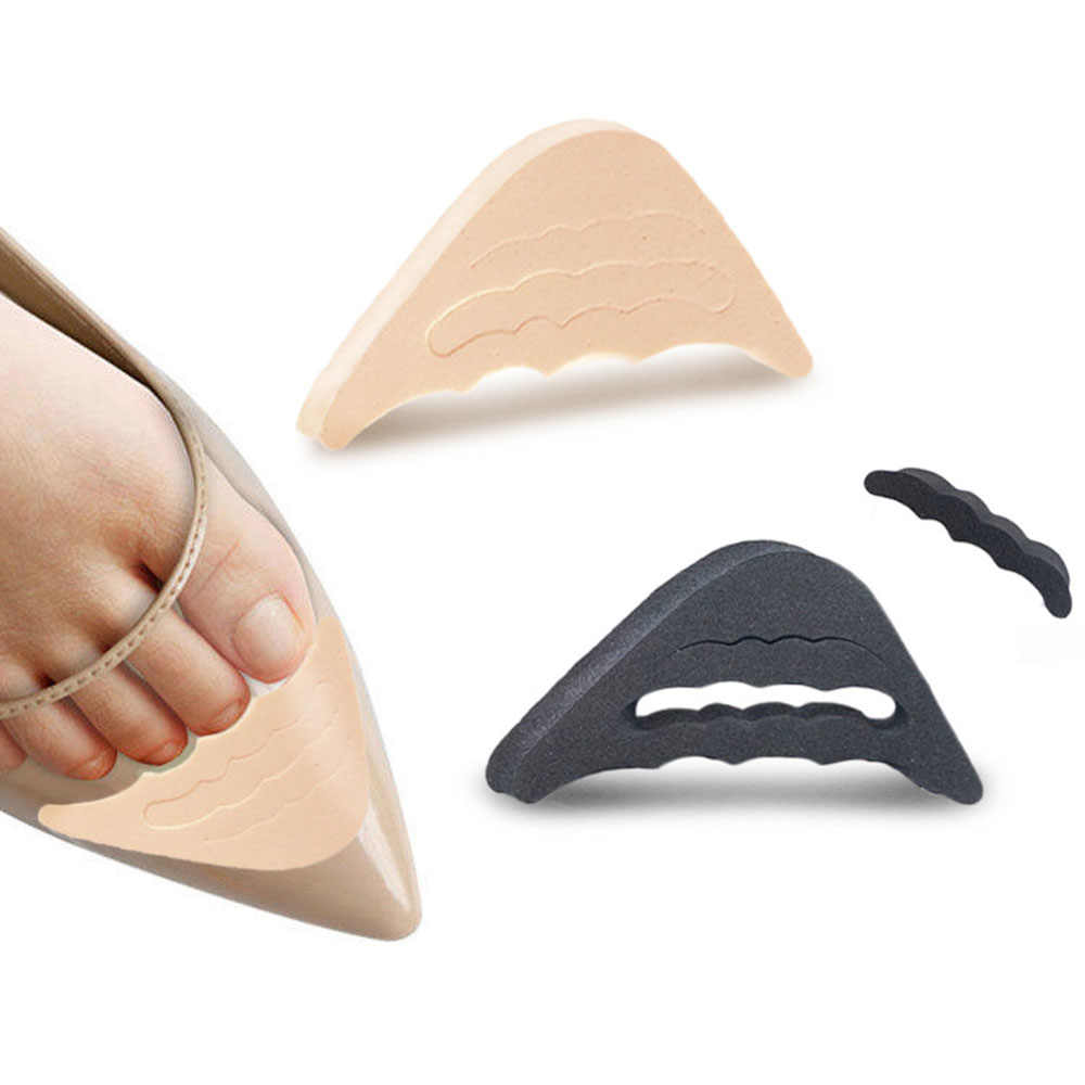 1 par feminino salto alto metade do antepé inserção toe plug almofada alívio da dor protetor sapatos grandes dedo do pé frontal enchimento ajuste