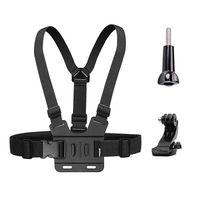 Chest Mount Harness Strap for Gopro Hero 6 5 4 3 3+ Session Black PC+ aluminum alloy Thumb Screw +J Hook  Fully Adjustable Strap|Camera Strap| |  -