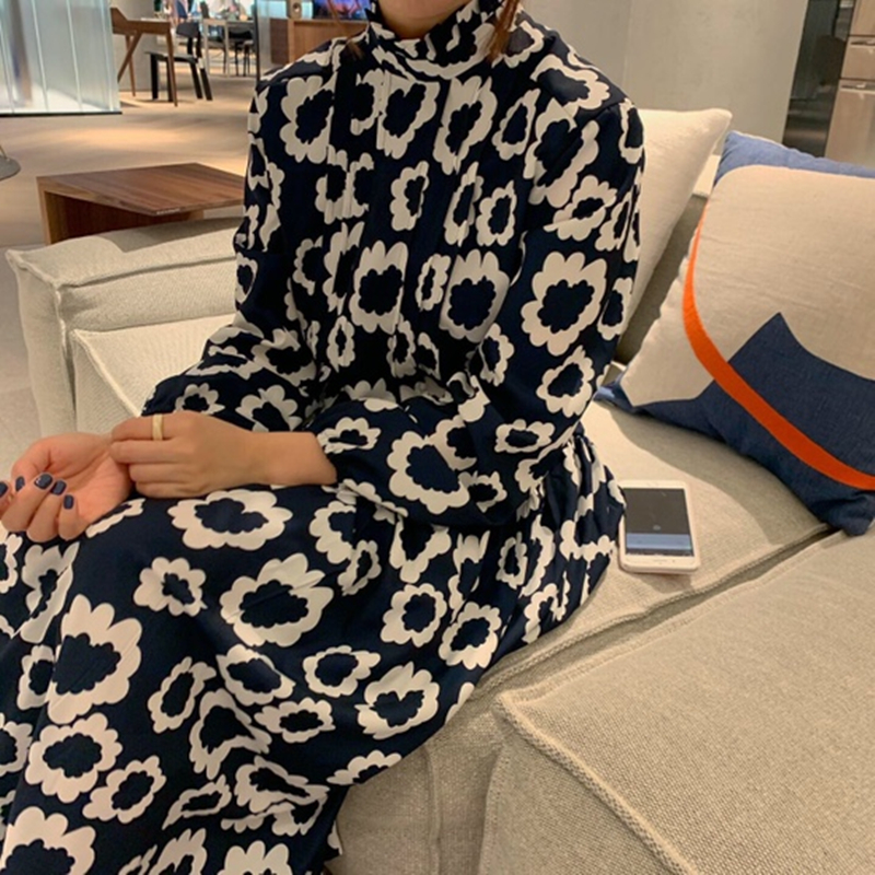 Elegant Vintage Style 2020 New Spring Summer Printing  Dress  Midi Dress Vestidos