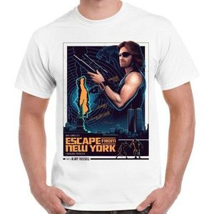 Ucieczka z nowego jorku 80s wąż klasyczny Film akcji fajne Retro T Shirt 452
