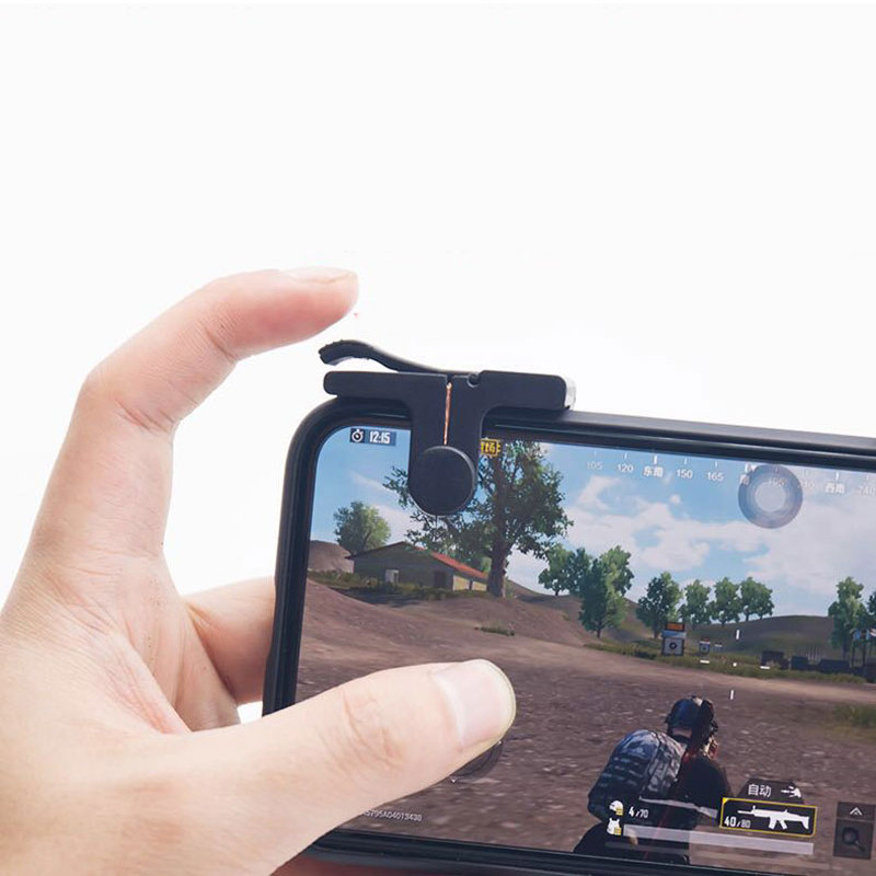 Image 4 - PUBG Moible Controller Gamepad Free Fire L1 R1 Triggers PUGB Mobile Game Pad Grip L1R1 Joystick for iPhone Android Phone-in Gamepads from Consumer Electronics