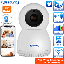 3MP Auto Tracking IP Camera Wireless Home Security Camera Two-way Audio / Night Vision 1536P Surveillance CCTV WiFi Camera CamHi