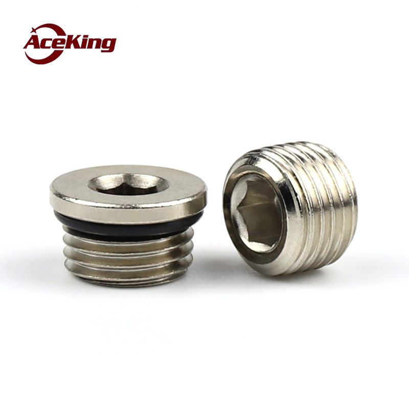 YJZG 304 Stainless Steel Ed nut hex Socket Flange Plug Seal Pipe Oil Plug G1//8 M8 M10 M12 M14 M16 M18 M20 M22 M27 M33 nut Size : M36X2 1pcs