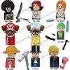 PG8244 KF6037 XP119 XP120 Anime One Piece Buliding Blocks Bricks Mini Action Figures Heads Assembly Toys Kids Birthday Gifts