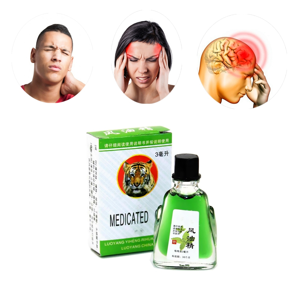 Antibacterial Disinfection Essential Oils Pain Relieving Tiger Balm Relaxation Medical Plasters Headache Refreshing Massage Oil