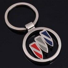 Metal porta-chaves do carro titular para buick logotipo allure encore enclave regal gs excelle envision verano chave acessórios