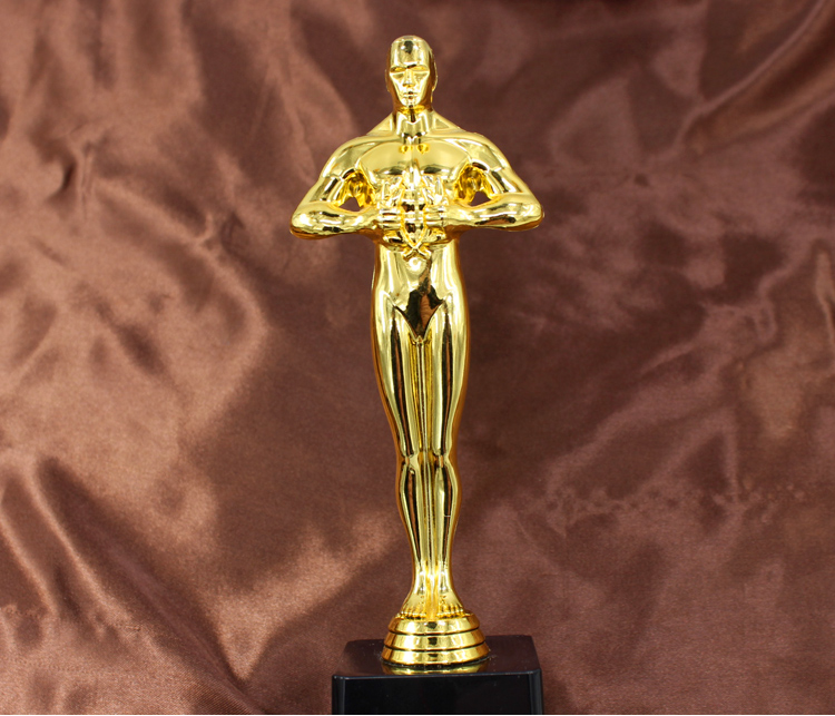 Small  Size Oscar Trophy Award , Oscar Trophy 19cm Hollywood Oscar Party Favors Award Prize