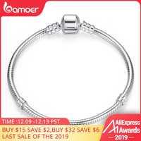 BAMOER vente de noël authentique 100% 925 en argent Sterling serpent chaîne Bracelet & Bracelet pour femmes bijoux de luxe 17-20CM PAS902