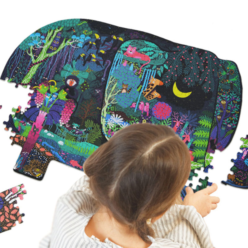 280 Piece Animal Puzzle Kids Toy Baby Paper  Puzzles Cartoon Dinosaur Elephant Animal Picture The Best Birthday Gift For Baby