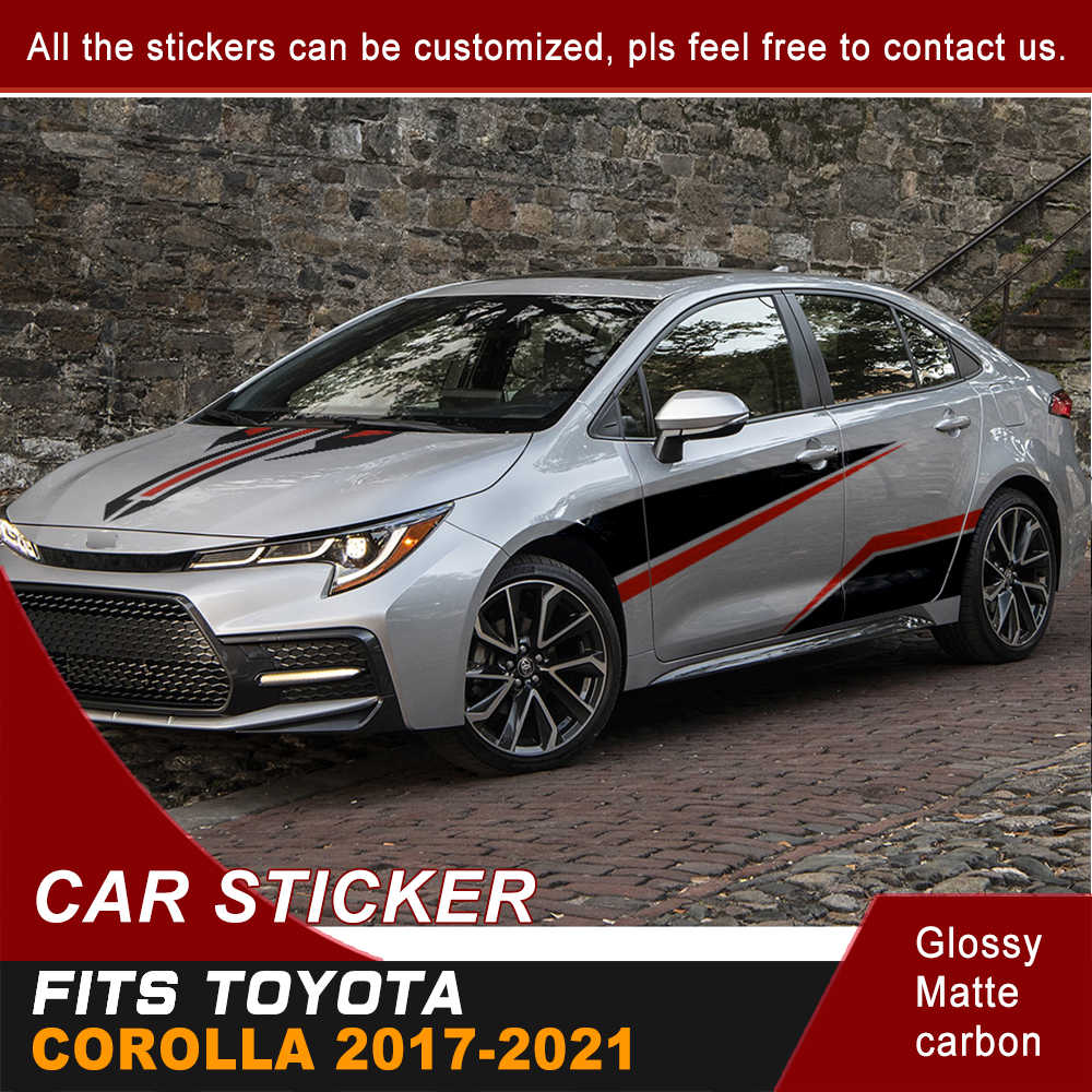 Racing Graphic Stripe Car Vinyl Decal Sticker for Toyota Camry 2012-2018