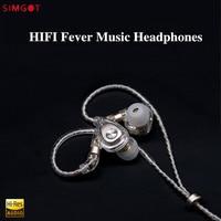 SIMGOT EM2 Hi Res In Ear Hybrid Knowles Balanced Earphone HiFi Detachable Cable Monitor IEM Earphone