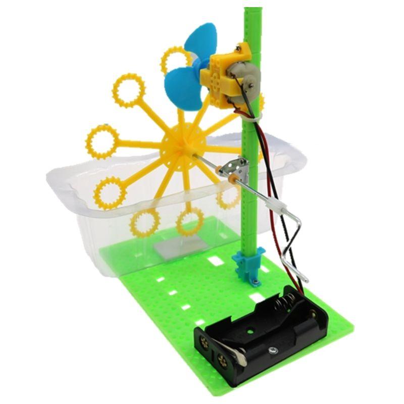 DIY Пузырьковая машина, электрическая игрушка, научный эксперимент, комплект, руководство по сборке, обучающие игрушки для детей, 72XC