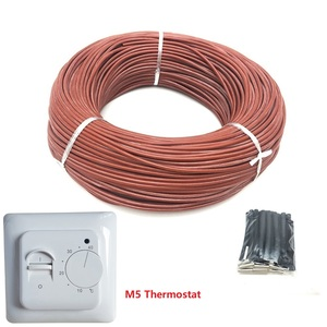 Image 4 - 50m 12K 33ohm/m Infrared Carbon Fiber Heating Wire Silicone Rubber Warm Floor Heating Cable with Thermostat