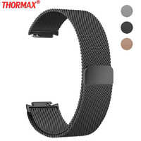 Best Milanese Loop band For Asus Zenwatch 3 Magnetic Suction Replacement Bracelet Watchband Accessories Black/silver/golden