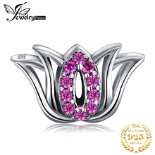 JewelryPalace Blossom Flower 925 Sterling Silver Bead Charms Original For Bracelet original Jewelry Making